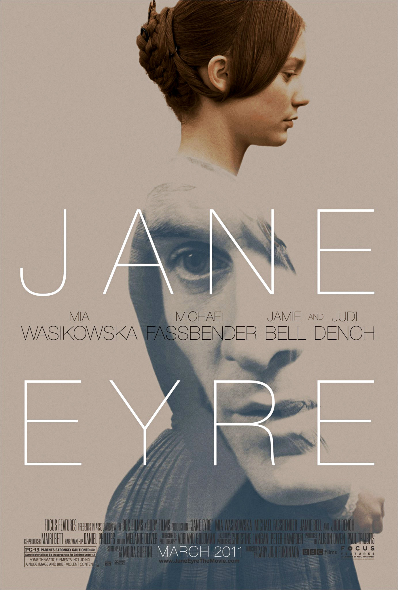 "jane erye Cary joji fukunaga's ""jane eyre,"" starring mia wasikowska, is a splendid example of how to tackle the daunting duty of turning a beloved work of classic literature into a movie."