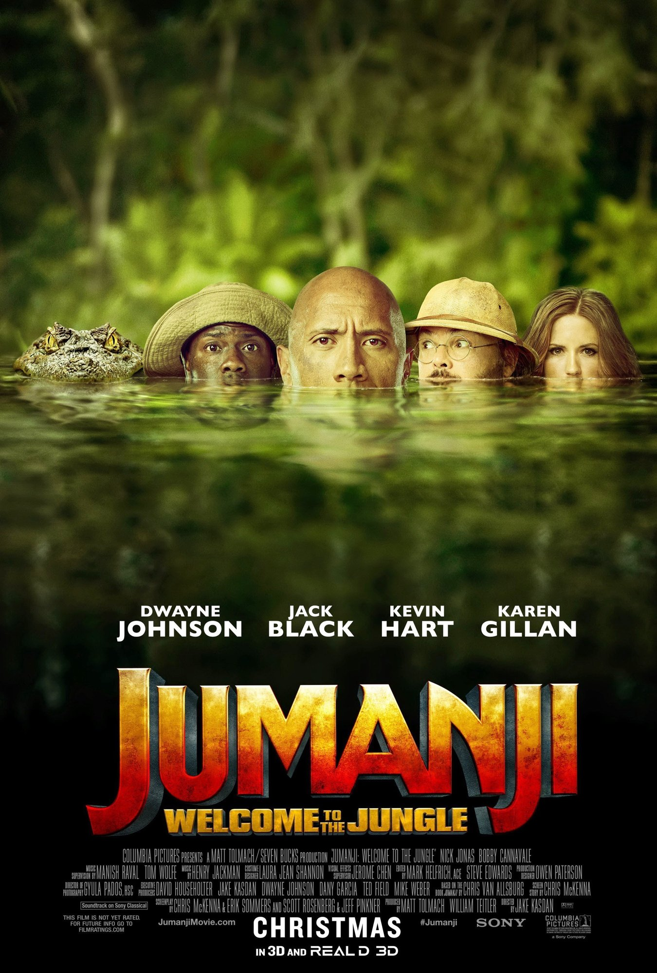 Poster of Columbia Pictures' Jumanji: Welcome to the Jungle (2017)