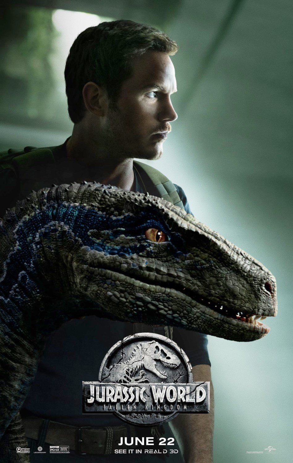 Poster of Universal Pictures' Jurassic World: Fallen Kingdom (2018)