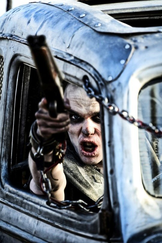 Nicholas Hoult stars as Nux in Warner Bros. Pictures' Mad Max: Fury Road (2015). Photo credit by Jasin Boland.