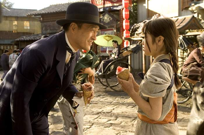 Ken Watanabe and Suzuka Ohgo in Columbia Pictures' Memoirs of a Geisha (2005)