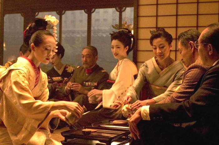 Zhang Ziyi, Gong Li and Michelle Yeoh in Columbia Pictures' Memoirs of a Geisha (2005)