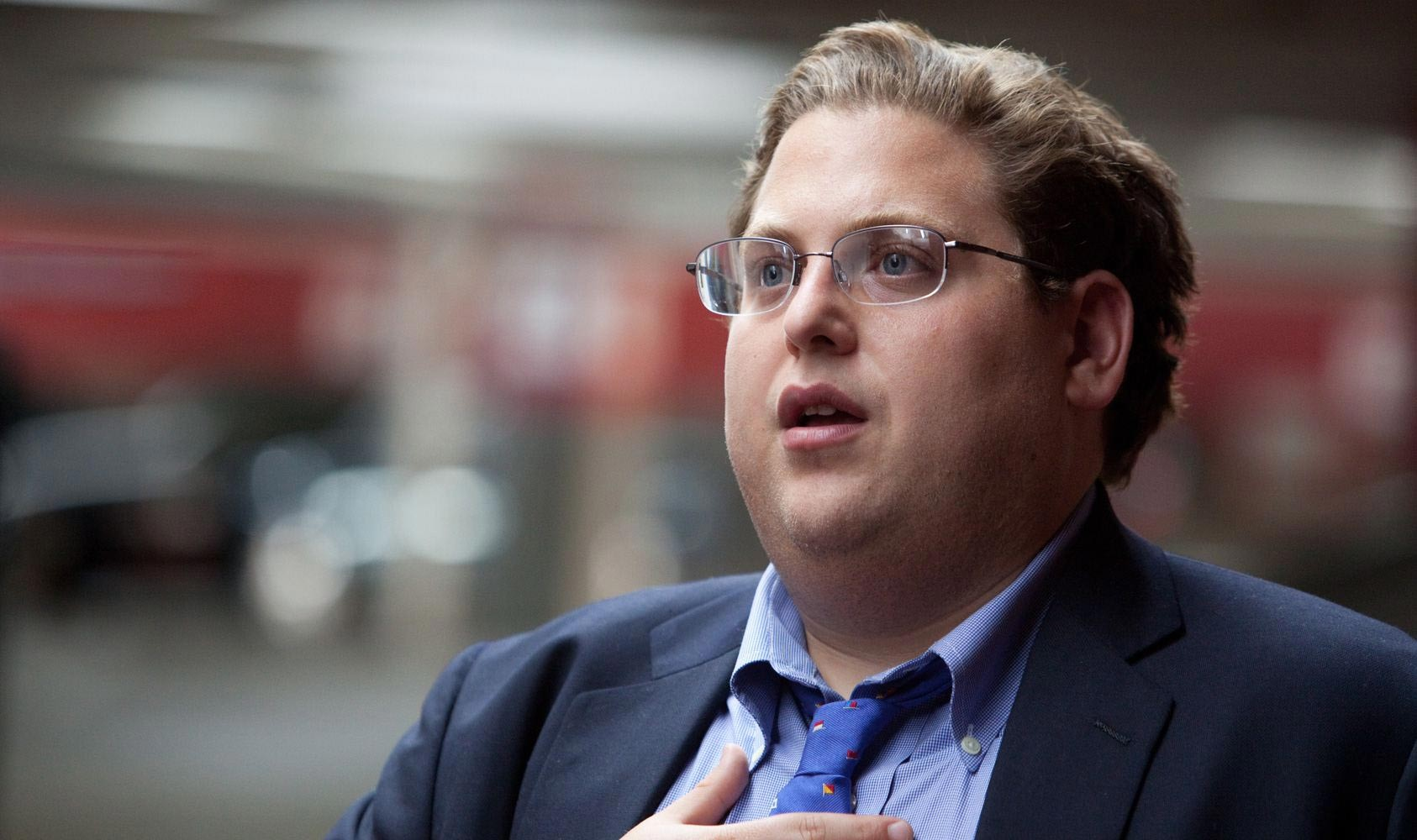 Jonah Hill stars as Peter Brand in Columbia Pictures' Moneyball (2011)
