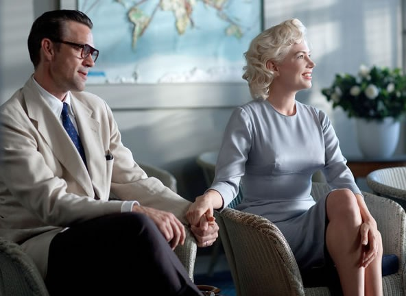 Dougray Scott stars as Arthur Miller and Michelle Williams stars as Marilyn Monroe in The Weinstein Company's My Week with Marilyn (2011)