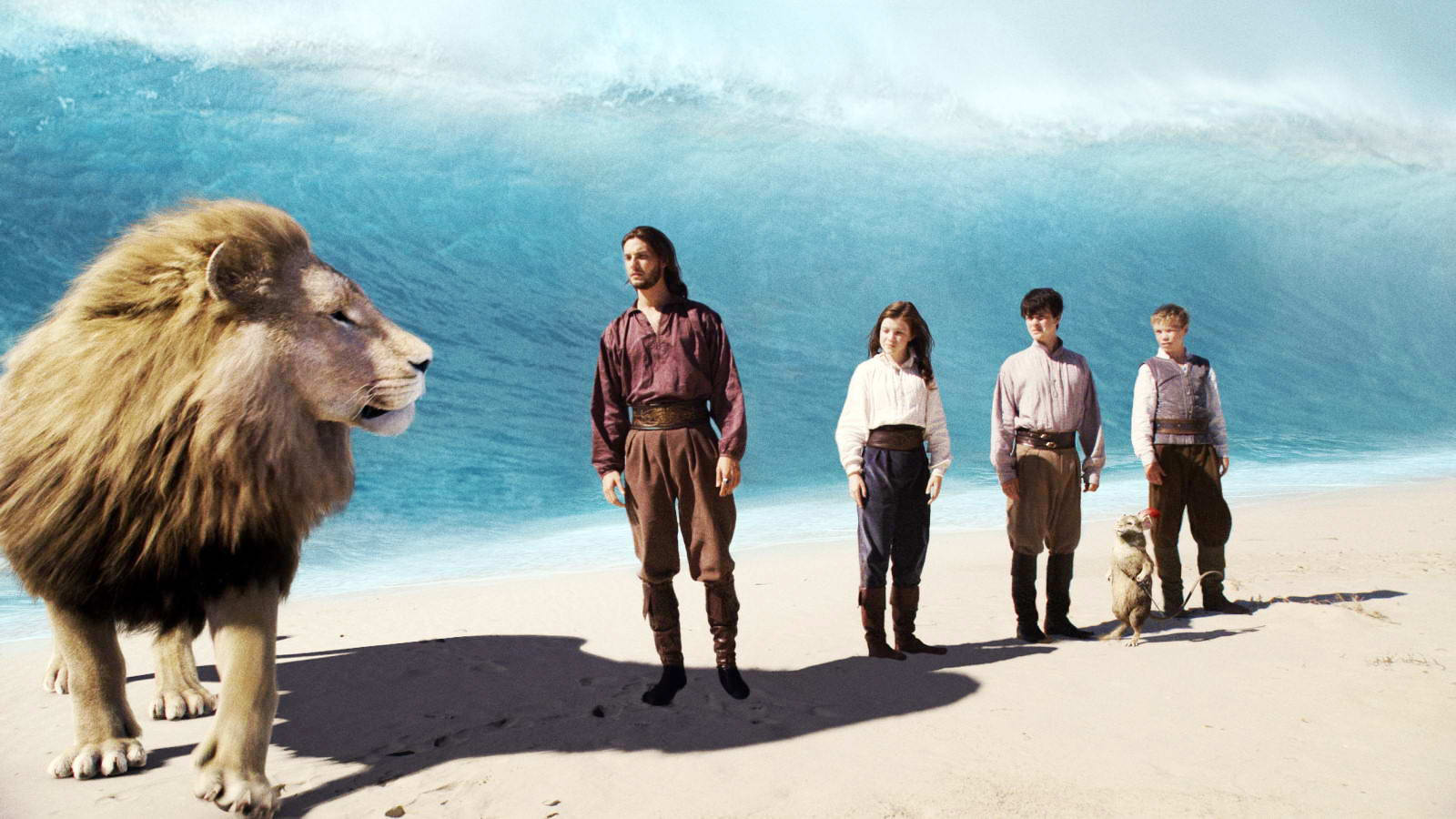 Ben Barnes, Georgie Henley and Skandar Keynes in Fox Walden's The Chronicles of Narnia: The Voyage of the Dawn Treader (2010)