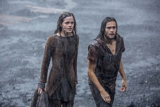 Emma Watson stars as Ila and Douglas Booth stars as Shem in Paramount Pictures' Noah (2014)