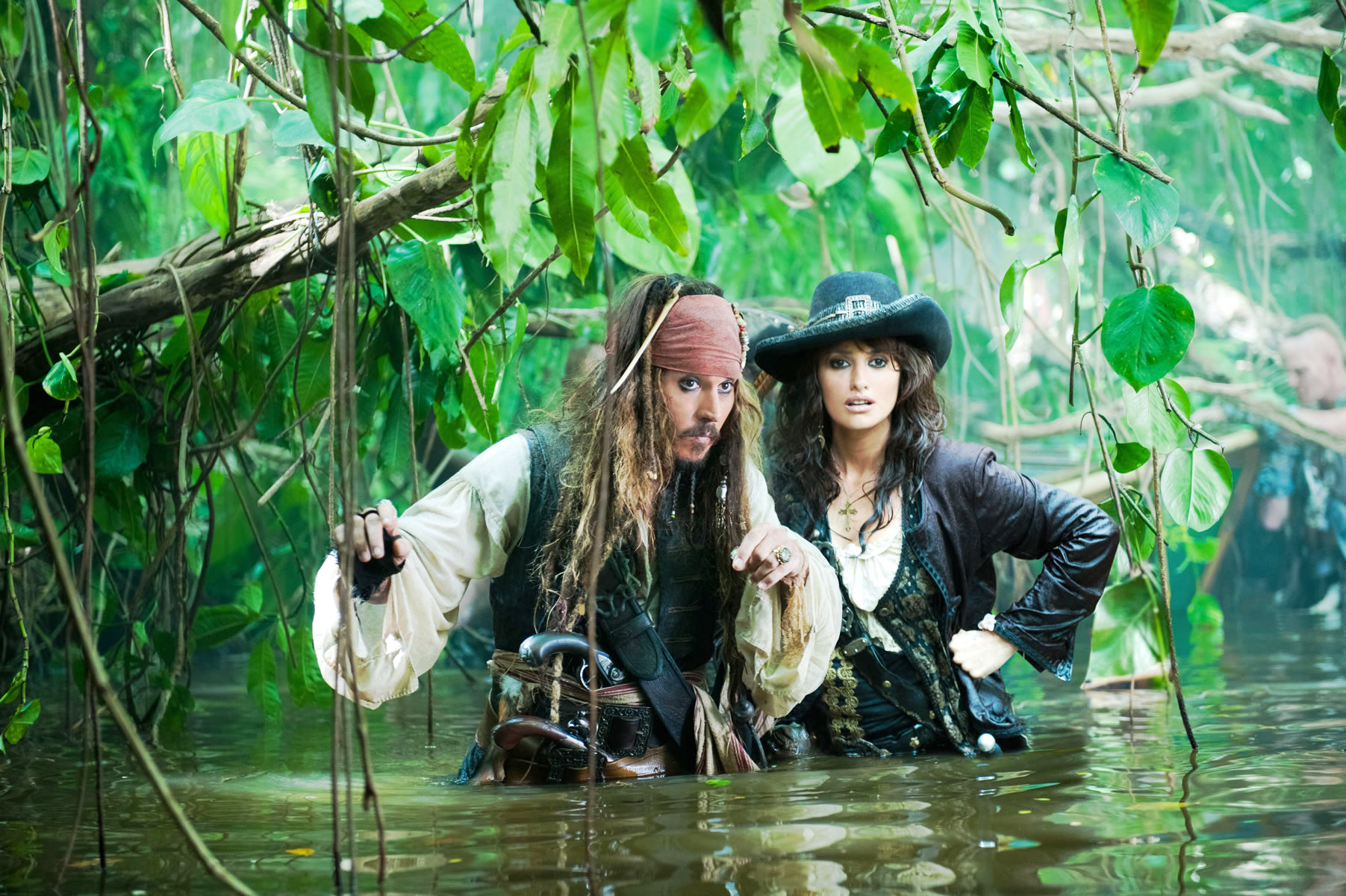 Johnny Depp stars as Jack Sparrow and Penelope Cruz stars as Angelica in Walt Disney Pictures' Pirates of the Caribbean: On Stranger Tides (2011)