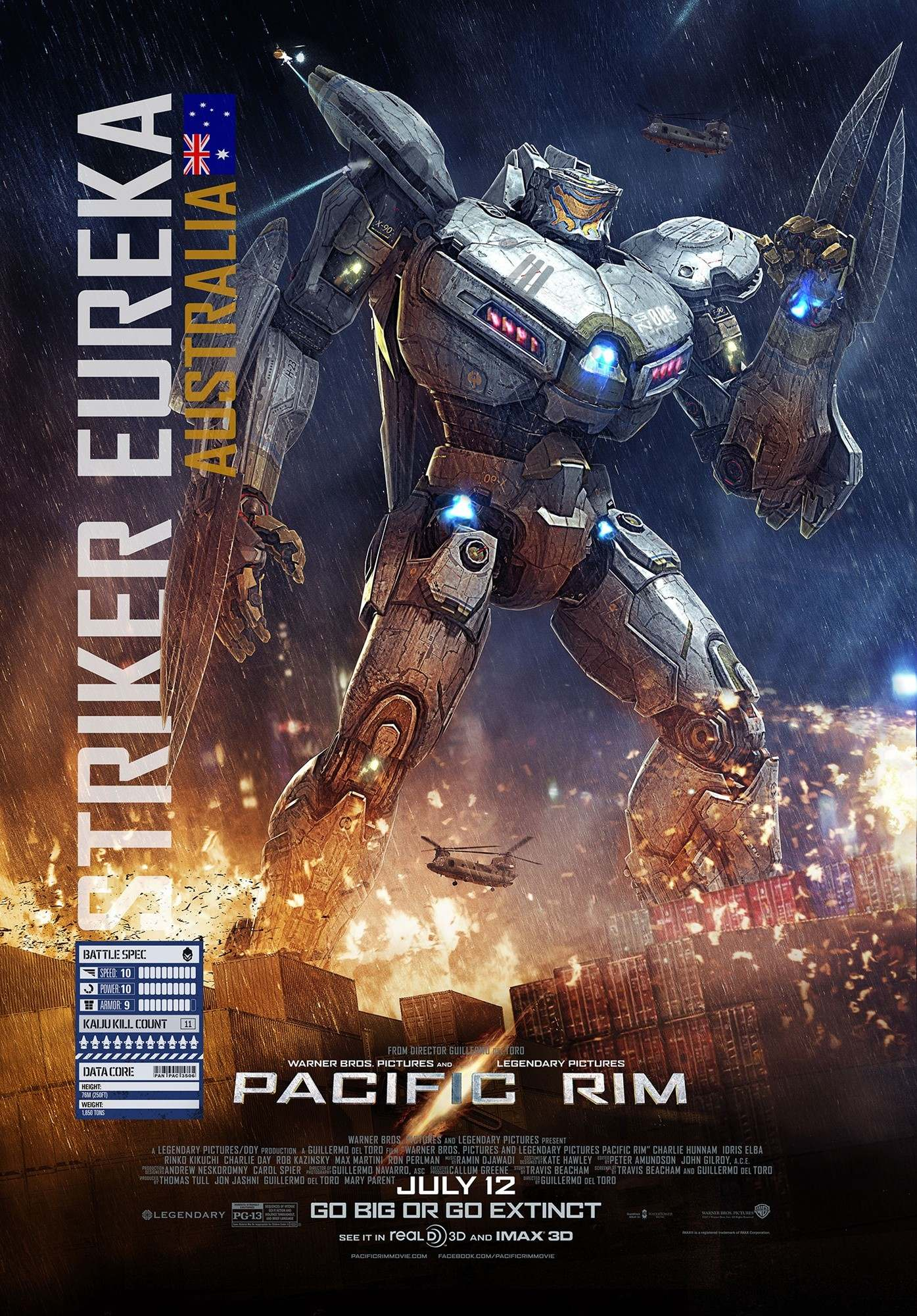 Poster of Warner Bros. Pictures' Pacific Rim (2013)