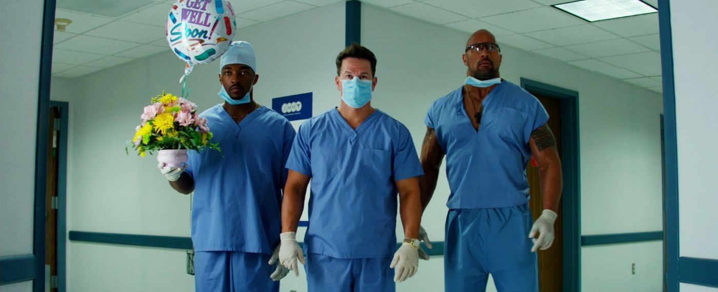 Anthony Mackie, Mark Wahlberg and The Rock in Paramount Pictures' Pain and Gain (2013)