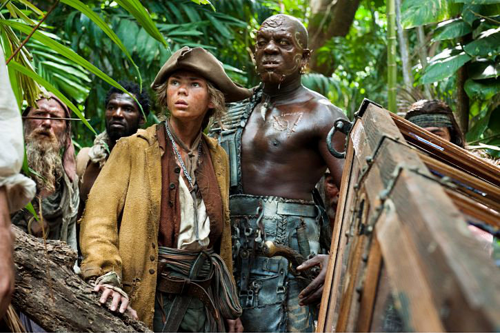 Kevin Senn, Emerson Tuitt Malcolm, Robbie Kay and Deobia Oparei in Walt Disney Pictures' Pirates of the Caribbean: On Stranger Tides (2011)