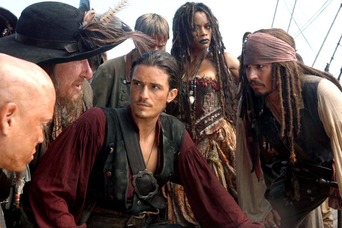 Geoffrey Rush, Orlando Bloom, Mackenzie Crook, Naomie Harris, Johnny Depp
