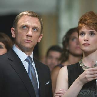 James Bond (DANIEL CRAIG) and Agent Fields (GEMMA ARTERTON) infiltrate Greene's fundraising party in Bolivia. Location: Casco Viejo, Panama City, Panama. Photo by: Karen Ballard.