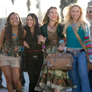 (L-R)Logan Browning as Sasha, Janel Parrish as Jade, Nathalia Ramos as Yasmin and Skyler Shaye as Chloe in Bratz the Movie (2007)