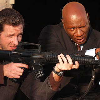 Edward Burns as John Reed and Ving Rhames as Agent Dave Grant in After Dark Films' 'Echelon Conspiracy' (2009) - Echelon_Burns_Rhames