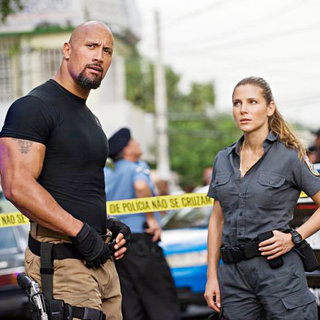 Fast Five - The Rock stars as Hobbs and Elsa Pataky stars as Elena Neves in Universal Pictures' Fast Five (2011)