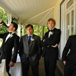 Tim Draxl, Kevin Bishop, Kris Marshall and Xavier Samuel in Arclight Films' A Few Best Men (2012)