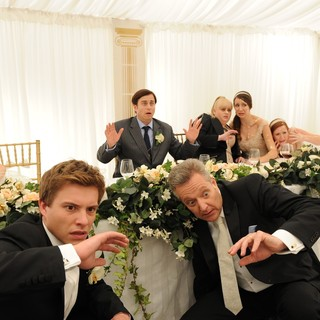 Laura Brent, Xavier Samuel, Kevin Bishop, Jonathan Biggins and Rebel Wilson in Arclight Films' A Few Best Men (2012)