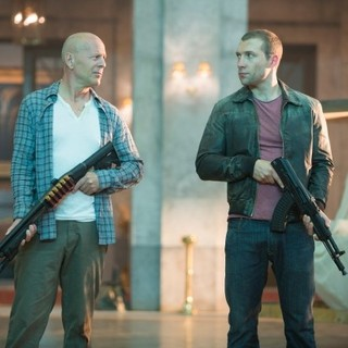 Good Day to Die Hard, A - Bruce Willis stars as John McClane and Jai Courtney stars as Jack McClane in 20th Century Fox's A Good Day to Die Hard (2013)