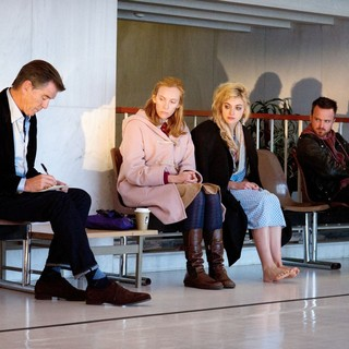Pierce Brosnan, Toni Collette, Imogen Poots and Aaron Paul in Magnolia Pictures' A Long Way Down (2014)