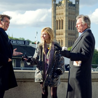 Pierce Brosnan, Imogen Poots and Sam Neill in Magnolia Pictures' A Long Way Down (2014)