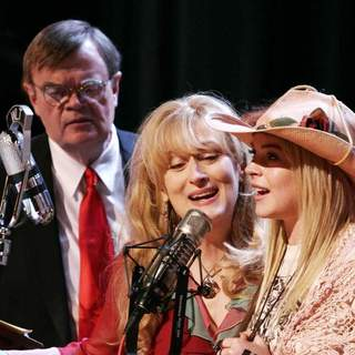 Garrison Keillor, Meryl Streep and Lindsay Lohan in Picturehouse's A Prairie Home Companion (2006) - a_prairie_home_companion_02