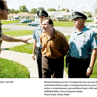 Michael Stuhlbarg stars as Larry Gopnik and Richard Kind stars as Uncle Arthur in Focus Features' A Serious Man (2009). Photo credit by Wilson Webb.