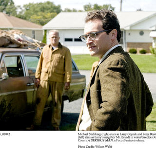 Peter Breitmayer stars as Gar Brandt and Michael Stuhlbarg stars as Larry Gopnik in Focus Features' A Serious Man (2009). Photo credit by Wilson Webb.