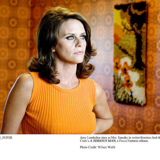Amy Landecker stars as Mrs. Samsky in Focus Features' A Serious Man (2009). Photo credit by Wilson Webb.