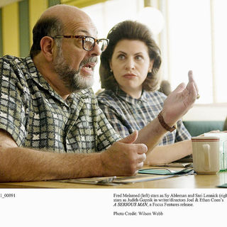 Fred Melamed stars as Sy Ableman and Sari Lennick stars as Judith Gopnik in Focus Features' A Serious Man (2009). Photo credit by Wilson Webb.