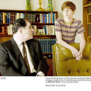 Richard Kind stars as Uncle Arthur and Aaron Wolff stars as Danny Gopnik in Focus Features' A Serious Man (2009). Photo credit by Wilson Webb.
