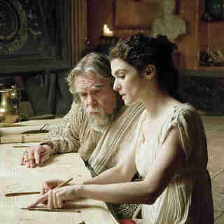 Agora - Michael Lonsdale stars as Theon and Rachel Weisz stars as Hypatia in Newmarket Films' Agora (2010)