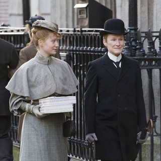 Mia Wasikowska stars as Helen Dawes and Glenn Close stars as Albert Nobbs in Roadside Attractions' Albert Nobbs (2012)