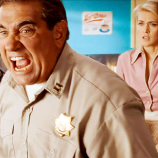 Dan Lauria stars as Chief Dawson and Jenni Baird stars as Tammy in Roadside Attractions' Alien Trespass (2009)