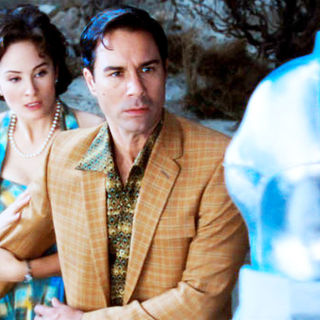 Jody Thompson stars as Lana Lewis and Eric McCormack stars as Ted Lewis / Urp in Roadside Attractions' Alien Trespass (2009)