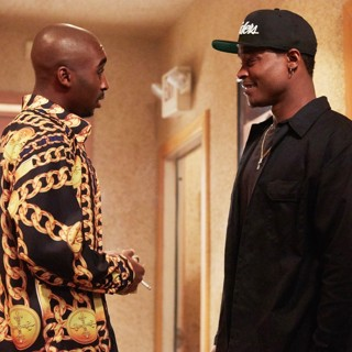 All Eyez on Me - Demetrius Shipp Jr. stars as Tupac Shakur and Harold House Moore stars as Dr. Dre in Summit Entertainment's All Eyez on Me (2017)