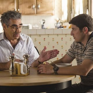 Eugene Levy stars as Jim's Dad and Jason Biggs stars as Jim Levenstein  in Universal Pictures' American Reunion (2012)