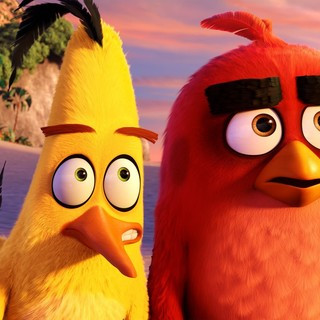 Chuck and Red from Columbia Pictures' Angry Birds (2016)