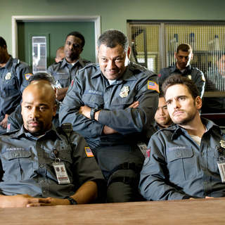 Columbus Short, Laurence Fishburne and Matt Dillon in Screen Gems' Armored (2009). Photo credit by Lacey Terrell. - armored02