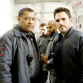 Laurence Fishburne stars as Baines and Matt Dillon stars as Mike Cochrone in Screen Gems' Armored (2009) - armored03