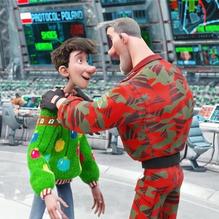 A scene from Sony Pictures' Arthur Christmas (2011)