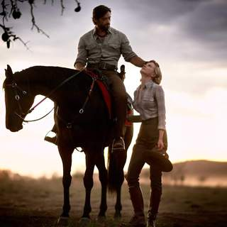 Nicole Kidman as Lady Sarah Ashley and Hugh Jackman as The Drover in The 20th Century Fox's Australia (2008)