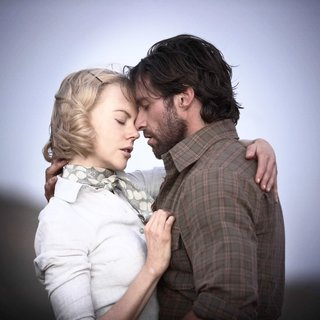 Nicole Kidman as Lady Sarah Ashley and Hugh Jackman as The Drover in The 20th Century Fox's Australia (2008). Photo credit by James Fisher.