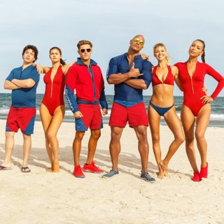 Baywatch - Jon Bass, Alexandra Daddario, Zac Efron, The Rock, Kelly Rohrbach and Ilfenesh Hadera in Paramount Pictures' Baywatch (2017)