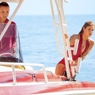 Baywatch - Ilfenesh Hadera stars as Stephanie Holden and Kelly Rohrbach stars as CJ Parker in Paramount Pictures' Baywatch (2017)