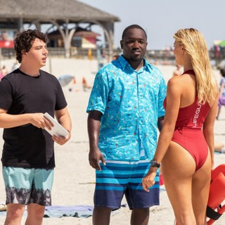 Baywatch - Jon Bass, Hannibal Buress and Kelly Rohrbach in Paramount Pictures' Baywatch (2017)