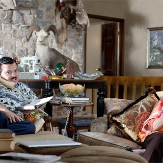 Jack Black (Bernie) and Shirley MacLaine in Millennium Films' Bernie (2012)