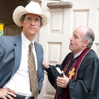 Matthew McConaughey stars as Danny Buck Davidson and Larry Jack Dotson stars as Reverend Woodard in Millennium Films' Bernie (2012)