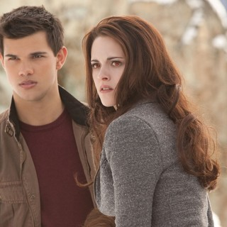 Taylor Lautner stars as Jacob Black and Kristen Stewart stars as Bella Cullen in Summit Entertainment's The Twilight Saga's Breaking Dawn Part II (2012)