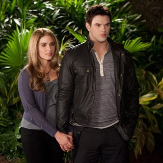 Nikki Reed stars as Rosalie Hale and Kellan Lutz stars as Emmett Cullen in Summit Entertainment's The Twilight Saga's Breaking Dawn Part II (2012) - breaking-dawn2-summit08
