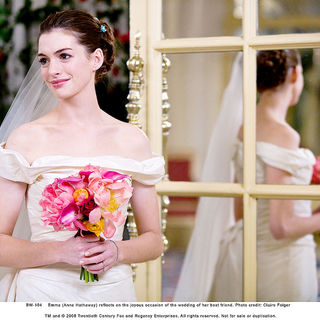 Anne Hathaway stars as Emma in Fox 2000 Pictures' Bride Wars (2009). Photo credit by Claire Folger.